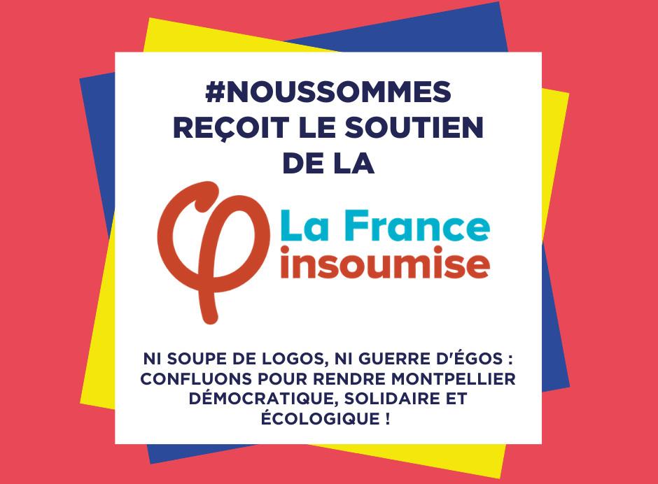 La France Insoumise soutient le mouvement populaire #NousSommes pour les municipales de Montpellier